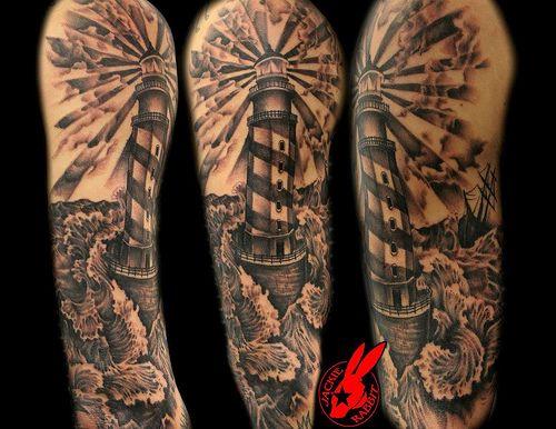 pirate tattoo half sleeve - Google Search
