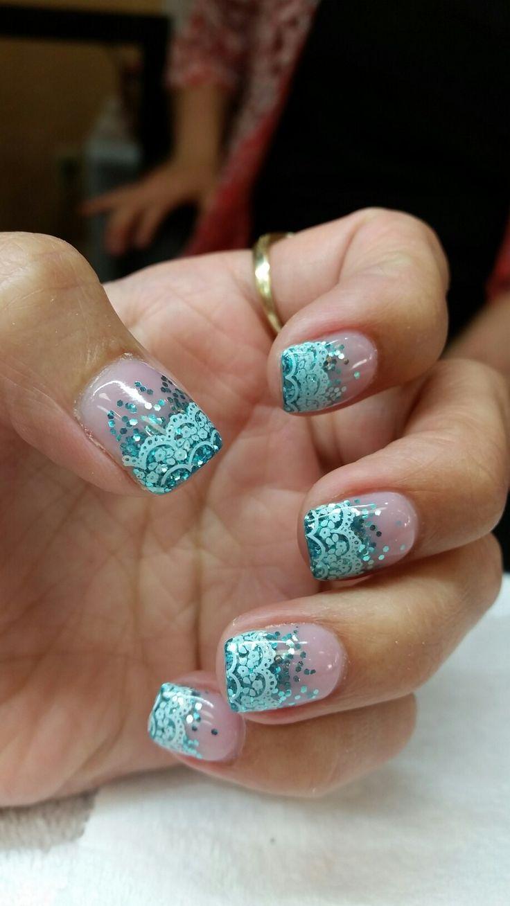 blue wedding nails ideas