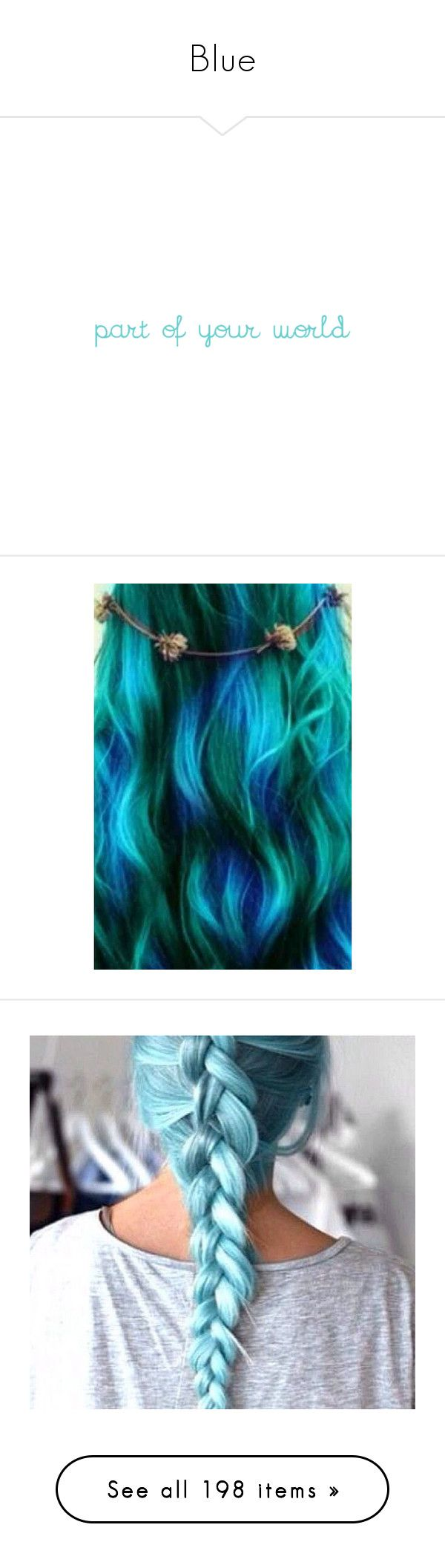 """""""Blue"""" by sara598d on Polyvore featuring hair, people, accessories, hair accessories, jewelry, rings, 24-karat gold jewelry, band rings, dolphin jewelry and teardrop ring"""