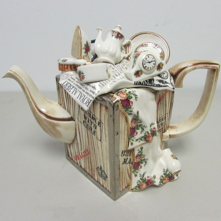 AJKTP7 Cardew Design Royal Albert Earthenware Moving Day Collectible Teapot #CardewDesignRoyalAlbert