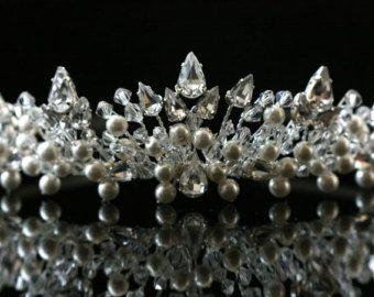 Bridal Wedding Tiara made with Swarovski Crystal by susanyork