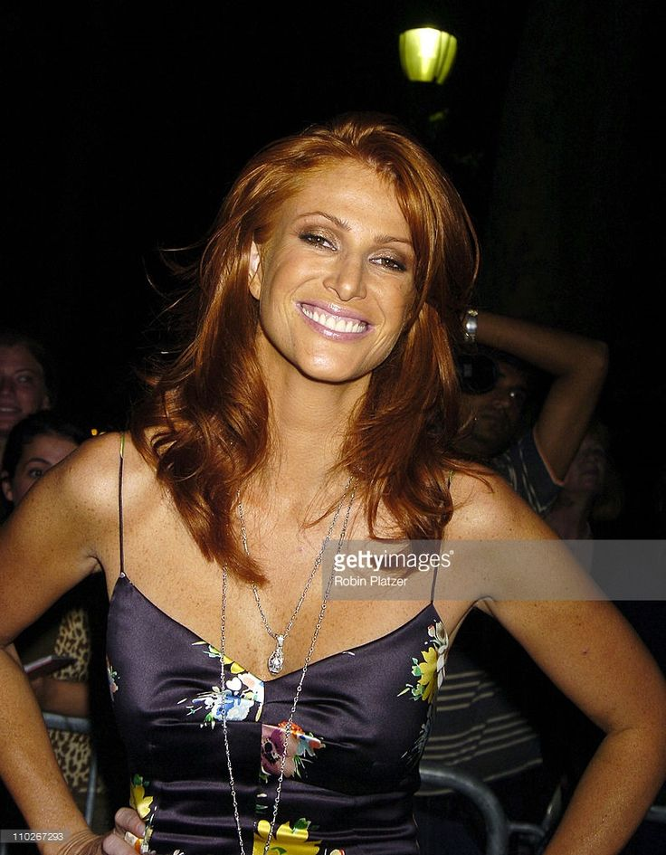 Angie Everhart during Olympus Fashion Week Spring 2006 - Fashion For Relief - Inside at The Tents at Olympus Fashion Week in New York, New York, United States.