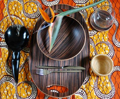 African-inspired table setting