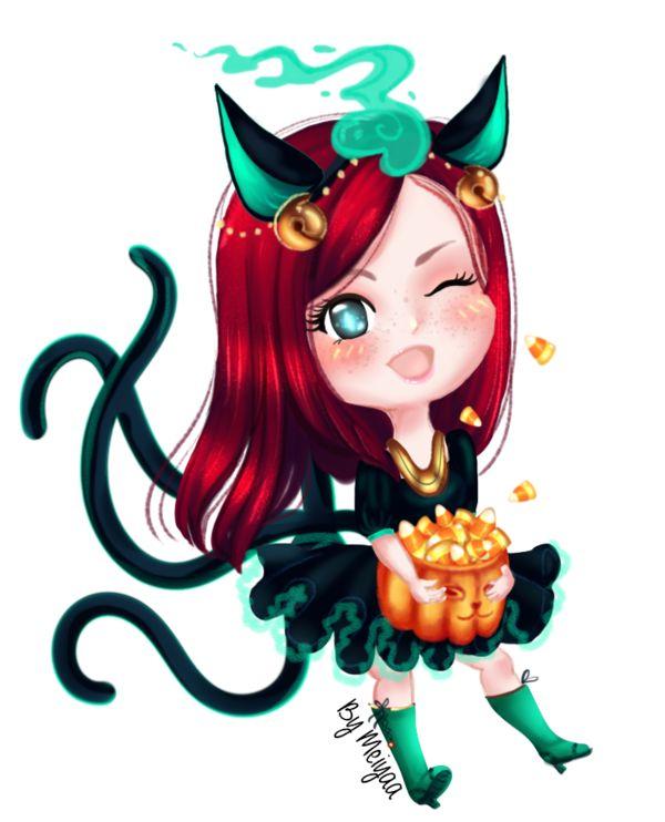 Asiyah in a cosplay Ciralak by Meiyaaesc.deviantart.com on @DeviantArt @halloween @chibi #eldarya @eldarya