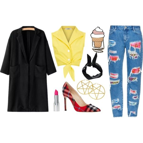 Untitled #18 by madamblue25 on Polyvore featuring polyvore fashion style House of Holland Manolo Blahnik Boohoo