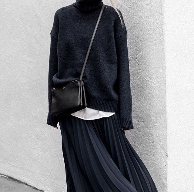 Figtny turtleneck and skirt