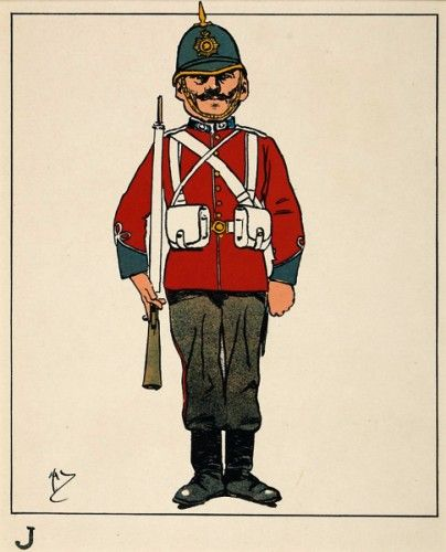 John Hassall J was a Jolly Original lithograph in colours for 'A Naval Alphabet', published by Sands & Co., London, 1904 #troopingthecolour