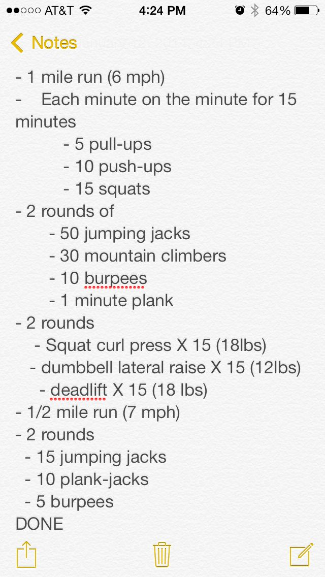 Crossfit workout I did last week! Great workout!!
