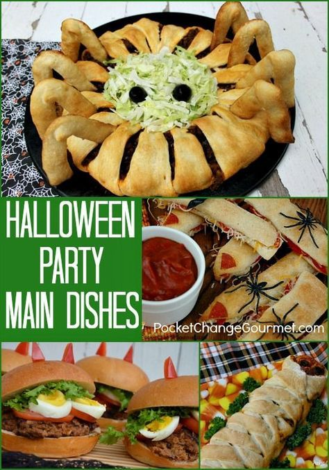 Halloween Party Main Dishes on PocketChangeGourmet.com halloween party food and drink, halloween parties #recipe #halloween