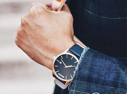 MVMNT Watches   Nice rose gold and black watch