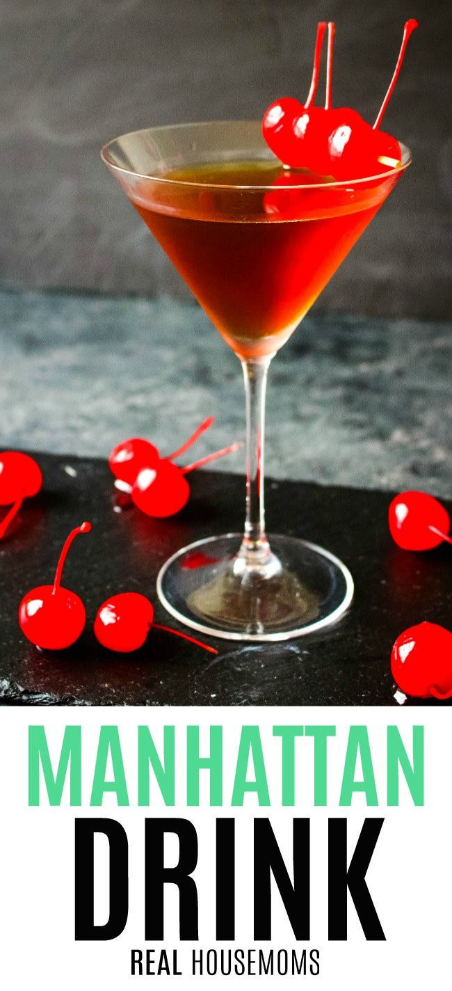 Made With Whiskey Sweet Vermouth And Bitters This Classic
