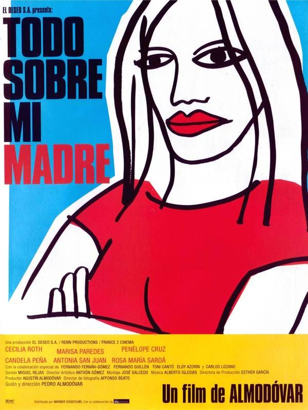All About my Mother by Pedro Almodovar. My favourite Almodovar film, just spectacular.