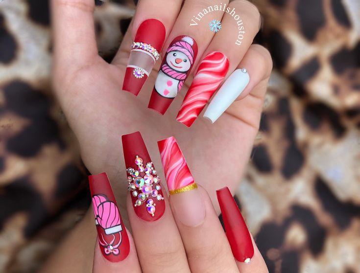 Christmas Nails Simple Toe Nails Rainbow Nails Beautiful Nail Designs