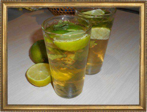 Мохито с зеленым чаем.