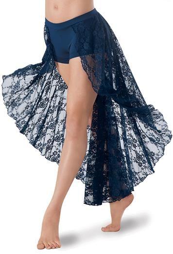 Open Lace Maxi Skirt Attached Shorts | Balera™