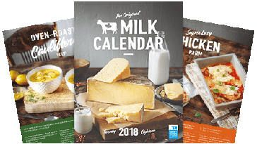 FREE 2018 Milk Calendar on http://www.canadafreebies.ca/