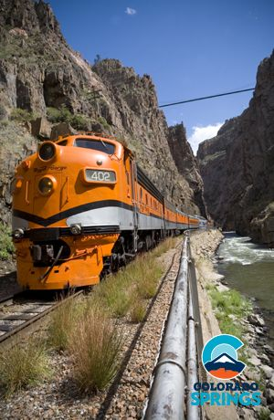 Enjoy a scenic ride through the Royal Gorge on the Royal Gorge Route Railroad complete with lunch and wine flight #ColoradoSpringsVacation