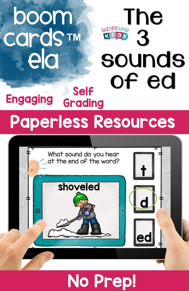 154 best phonics images on pinterest homeschooling english boom cards the 3 sounds of ed robcynllc Gallery