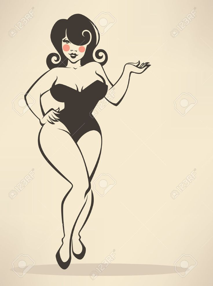 30555514-plus-size-pin-up-girl-on-beige-background-Stock-Vector-pin-pinup.jpg 966×1,300 pixels