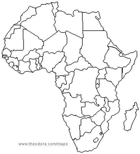 Africa Political Map Without Names | Map Of Africa