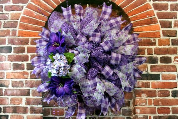17 best images about summer wreaths on pinterest purple for Amaryllis deco