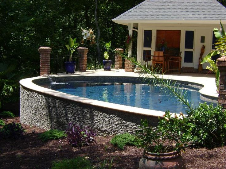pools with stone walls | Residential Swimming Pool Renovations