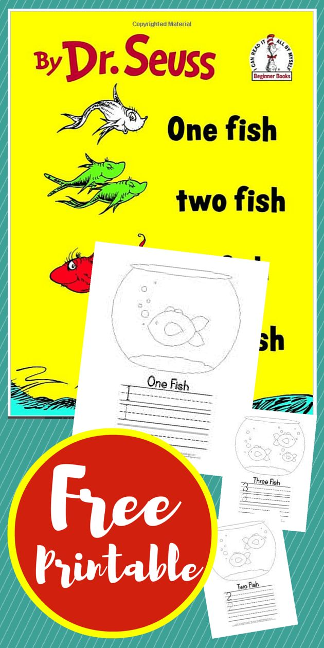 Unit study colors preschool - Dr Seuss One Fish Two Fish Red Fish Blue Fish Free Printable Unit Study Homeschool Preschool