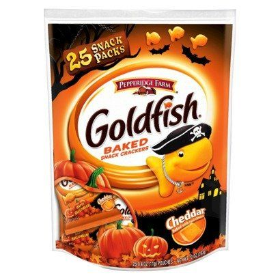 #Pepperidge #Farm #Goldfish, #Cheddar #Baked #Snacks, #Pack of #25 0.4oz #Pouches Bag contains #25 snack sized (0.4oz each) Bags are decorated for easter Halloween making them Great for trick or treating 0g Trans Fat https://food.boutiquecloset.com/product/pepperidge-farm-goldfish-cheddar-baked-snacks-pack-of-25-0-4oz-pouches/