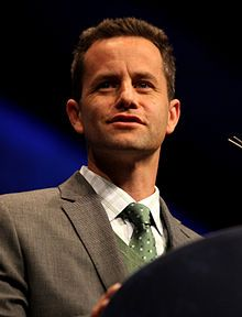 Kirk Cameron - for refusing to back down from or apologize for his religious beliefs, simply for the sake of being politically correct.  I respect him for standing his ground despite massive pressures to do otherwise.  (Most people wouldn't.)