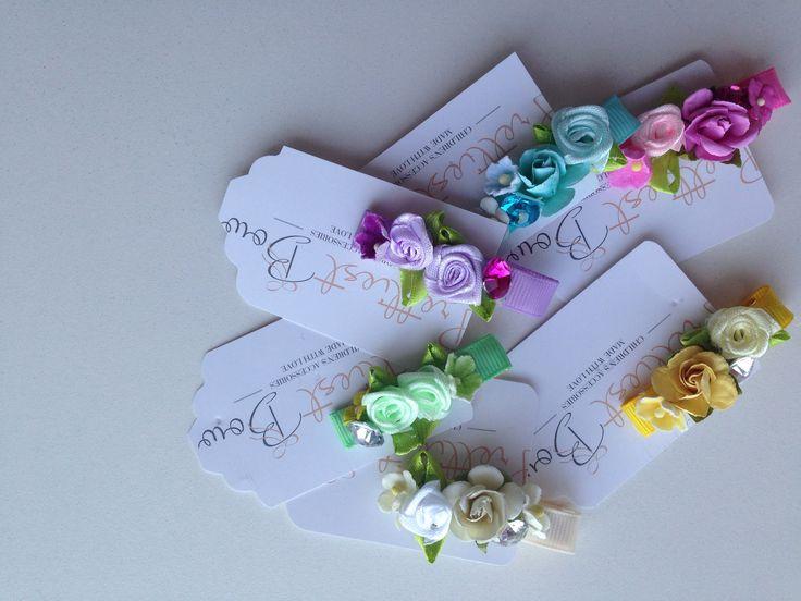 Multi flower hair clip