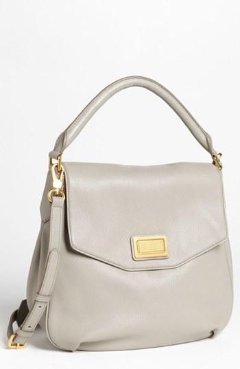 Beautiful light grey Marc by Marc Jacobs hobo leather handbag