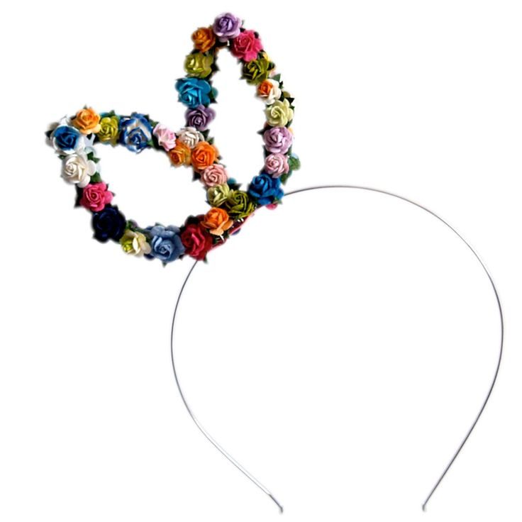 Image of Rachel Floral Bunny Ears - Brights