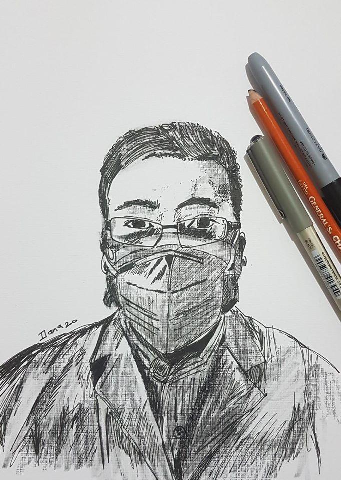 li wenliang simple drawings social dr wuhan
