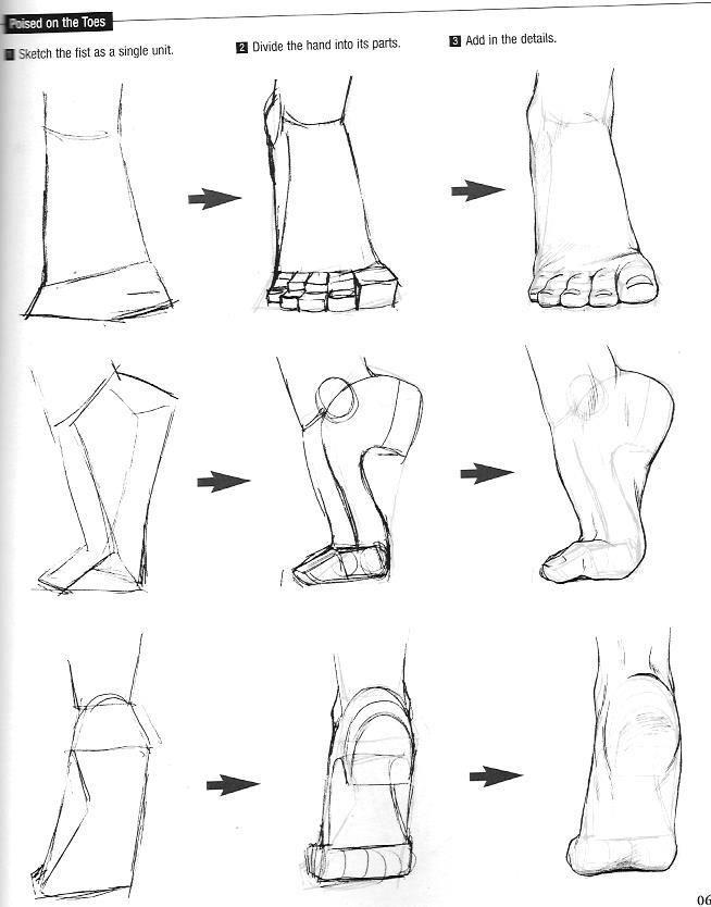 Como Desenhar Mangá: Pés