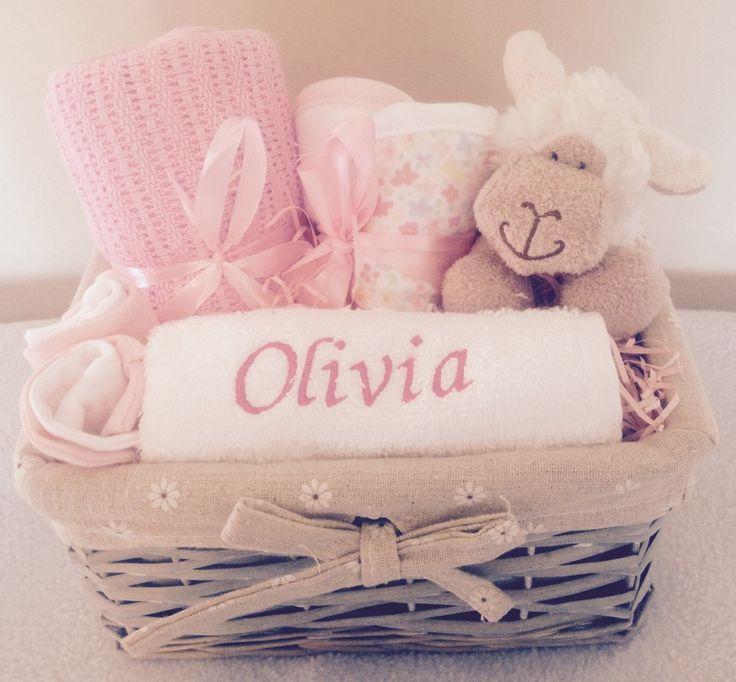 Image of Sally the Sheep - Personalised Baby Girl Gift Basket