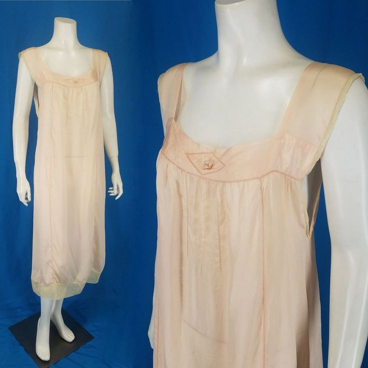 Antique Edwardian Silk Nightgown Ladder Stitches Ribbon Work Flower Tulle Hem  http://stores.ebay.com/mmmosts-Old-time-Stuff-and-Threads