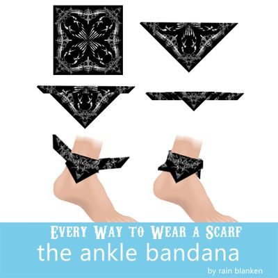 How to tie an ankle bandana