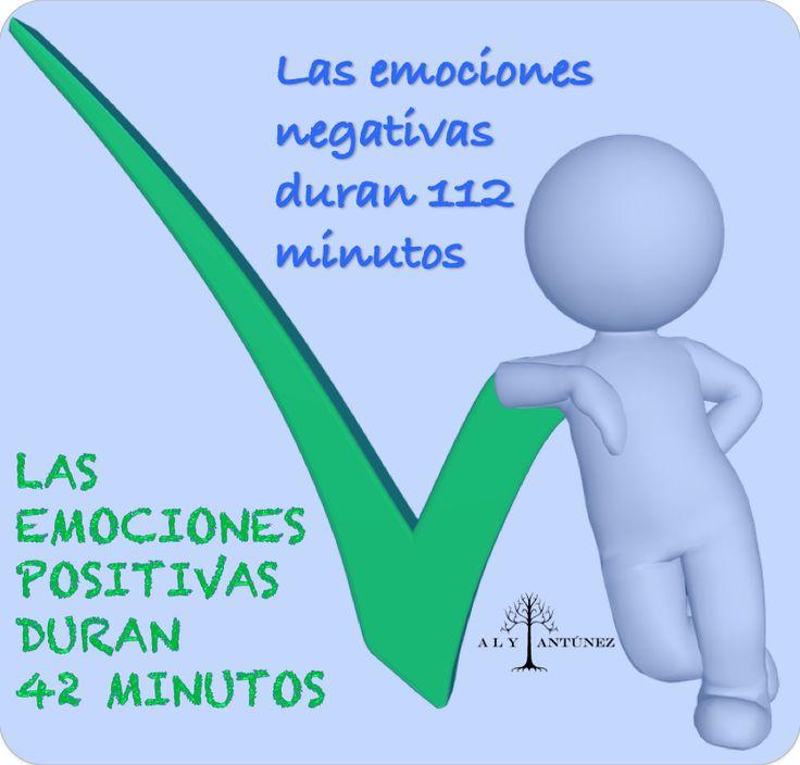 Hecho científico: Las emociones positivas duran 42 minutos