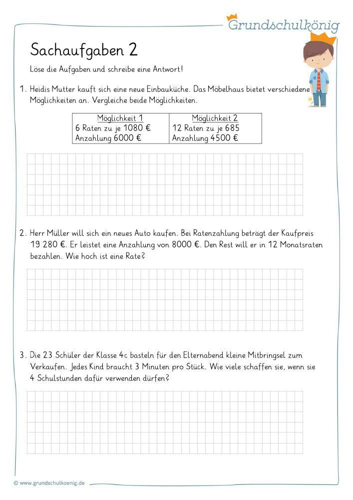 4 mathe aufgaben klasse 52. Mathematik