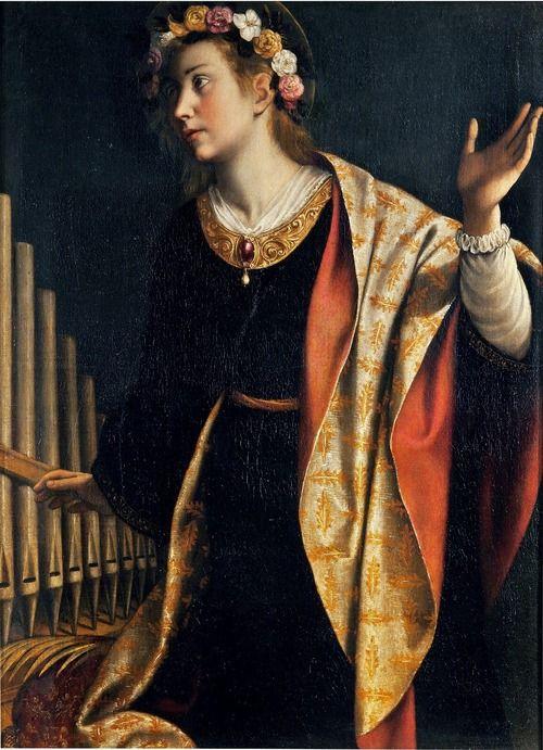 St. Cecilia - by Artemisia Gentileschi