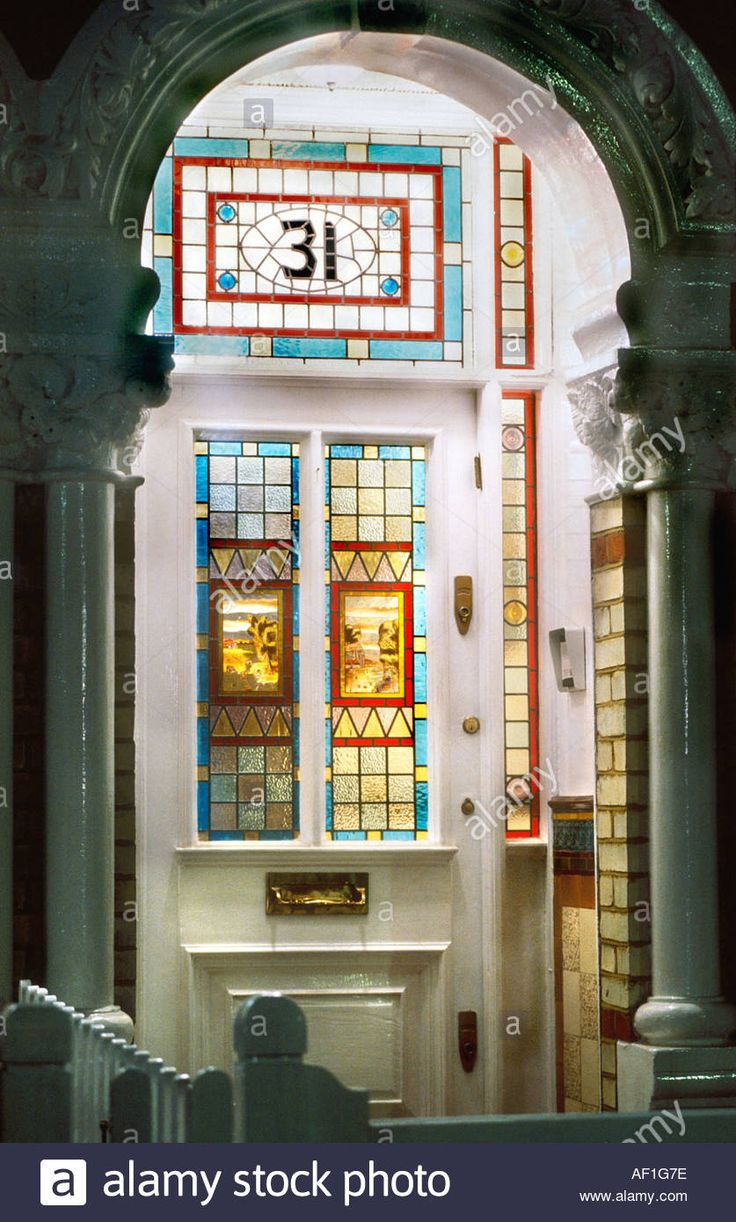 45 best stain glass door images on pinterest glass door leaded download this stock image victorian stained glass front door at night british housing london eventelaan Image collections