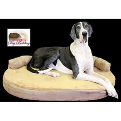 @Overstock - X-large Orthopedic Memory Foam Joint Relief Bolster Dog Bed - Give older dogs some relief with this therapeutic dog bed. The memory foam system reduces pressure points and helps to alleviate arthritis pain. The plush faux fur cover removes for convenient cleaning. This bed is designed for extra-large dog breeds.    http://www.overstock.com/Pet-Supplies/X-large-Orthopedic-Memory-Foam-Joint-Relief-Bolster-Dog-Bed/5670430/product.html?CID=214117  $144.99