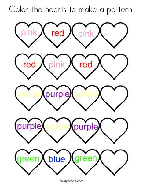 color the hearts to make a pattern coloring page twisty noodle
