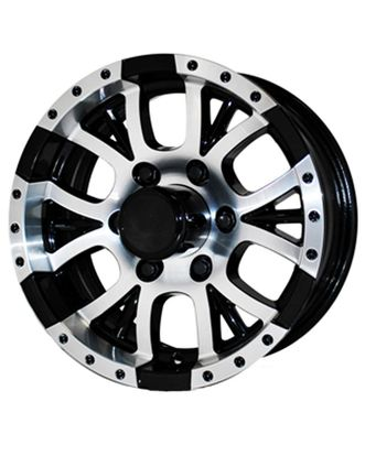 Save Money On Black Aluminum Trailer Wheels and Rims. 12X4 4 on 4 Aluminum Trailer rim, Sendel T13 Black Trailer Wheel. Discount Prices, Car Hauler Trailers, Cargo Trailers, Camper Trailers, Construction Trailers, Enclosed Trailers, Equipment Trailers, Farm Trailers, Flatbed Trailers, Landscape Trailers, Horse Trailers, Motorcycle Trailers, Recreational Trailers.