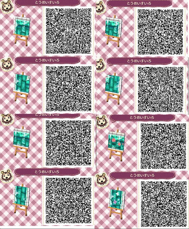 12 best images about acnl water qr codes on pinterest for Acnl boden qr