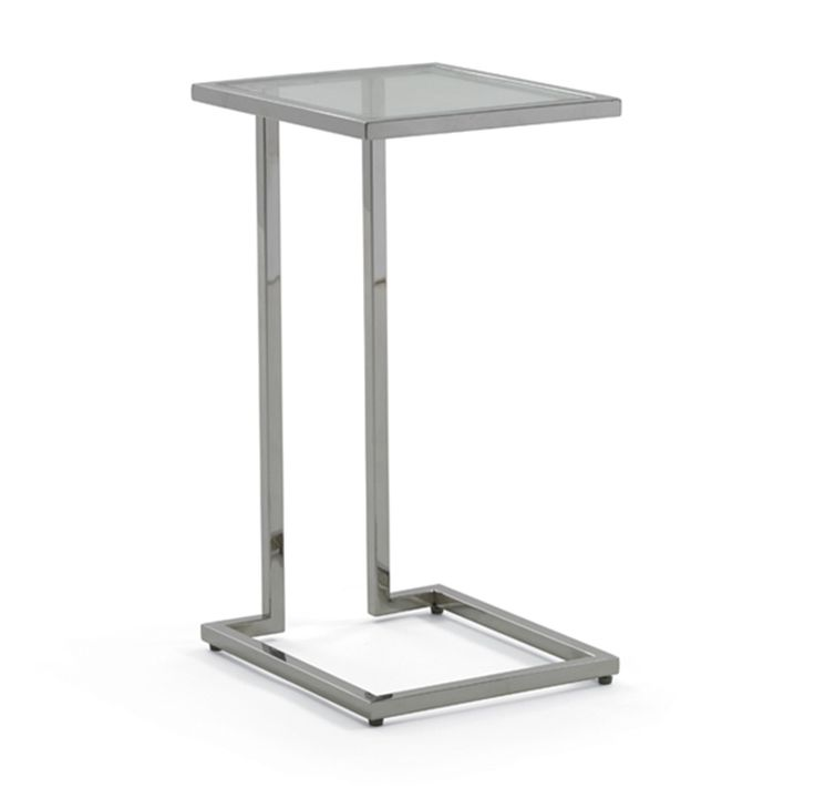Fritz Polished Stainless Pull-Up Table - Mitchell Gold + Bob Williams