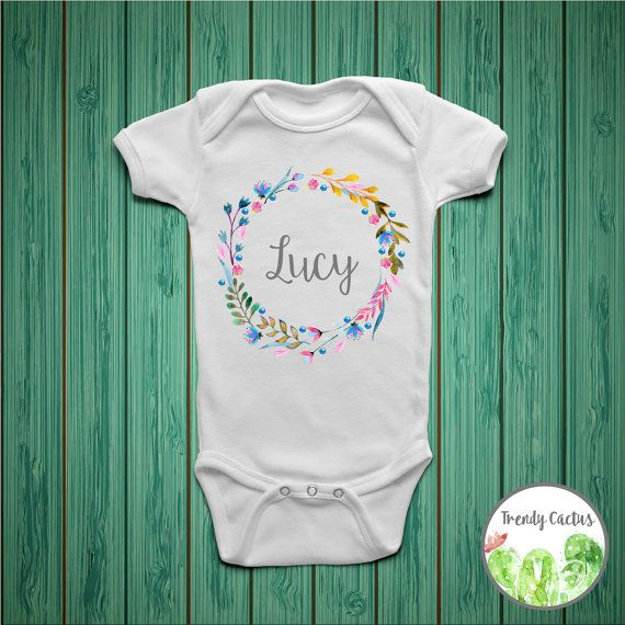 Make this onesie custom by adding your little ones name! This listing is for an adorable personalized baby girl onesie. This baby onesie is great