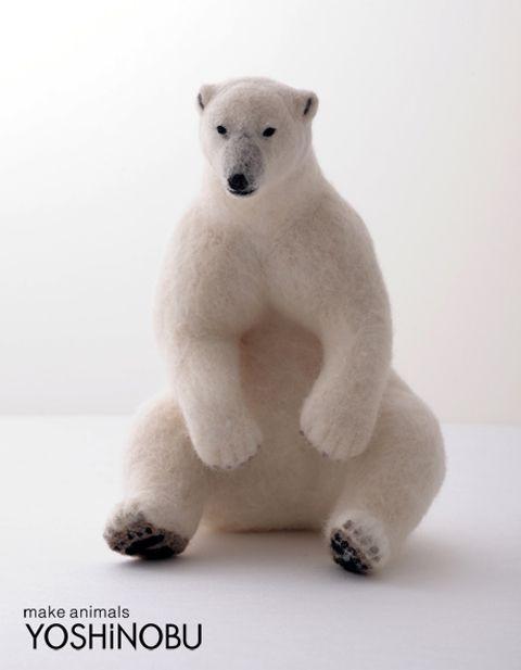 Polar Bear wool felt YOSHiNOBU