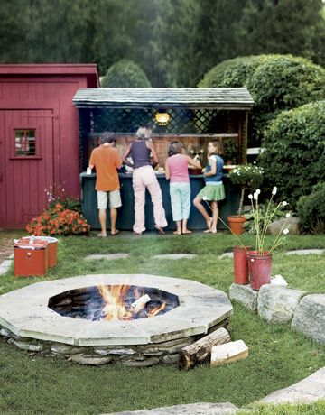 Fire Pit for about 30 bucks! camping fun outdoor ideas