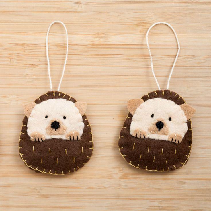 Handmade Felt Hedgehog Ornament Decorative Felt Animal #feltanimalsdiy